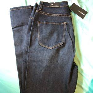 High waisted, dark wash fashion nova skinny jeans